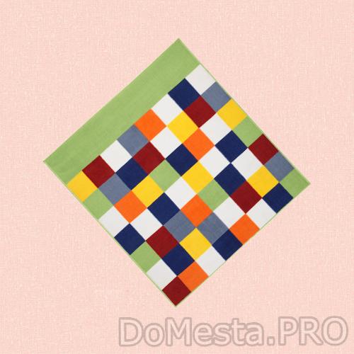 ЛАТТО Ковер, короткий ворс, разноцветный, 133x140 см