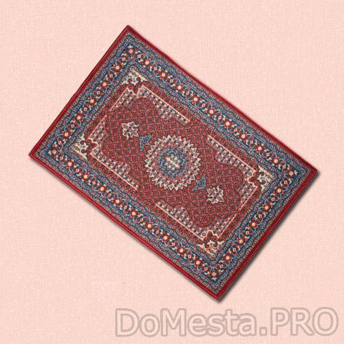 СКИВХОЛЬМЕ Придверный коврик, красный, синий, 40x90 см