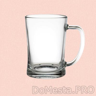 МЬЁД Высокая пивная кружка, прозрачное стекло, 60 сл