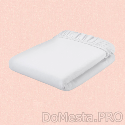 ДВАЛА Простыня натяжная, белый, 90x200 см