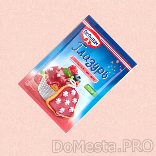 Глазурь сахарная со вкусом лесных ягод Dr.Oetker, 90 гр.