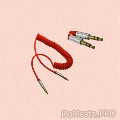 Аудио кабель AUX 3.5 витой гель