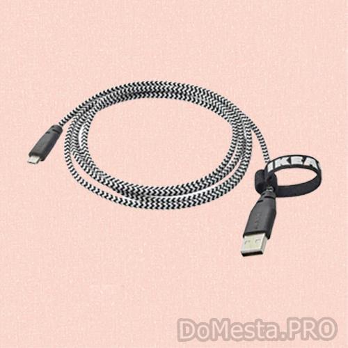 ЛИЛЛЬХУЛЬТ Кабель микро-USB-USB, 1.5 м