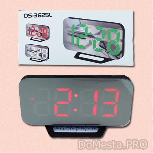 Часы сетевые электронные (2 режима) зеленый