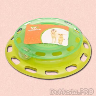 Игровой комплекс для кошек Пижон с отсеками для корма и шариком