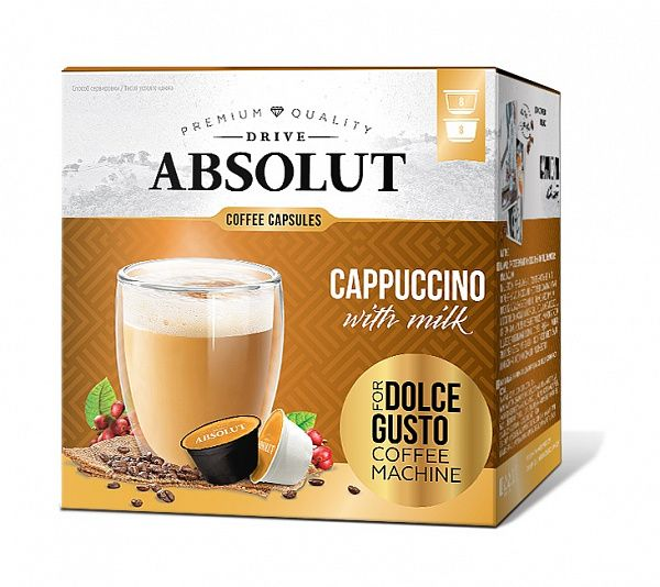 Кофе ABSOLUT DRIVE Dolce Gusto Капучино, 16 кап.