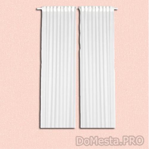 ГЕРТРУД Гардины, 2 шт., белый, 145x300 см