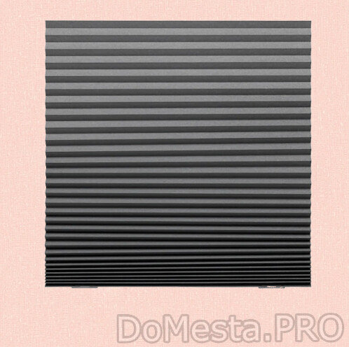ШОТТИС Жалюзи плиссе, блокирующие свет, темно-серый, 100x190 см