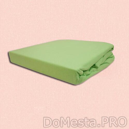 ДВАЛА Простыня натяжная, светло-зеленый, 90x200 см