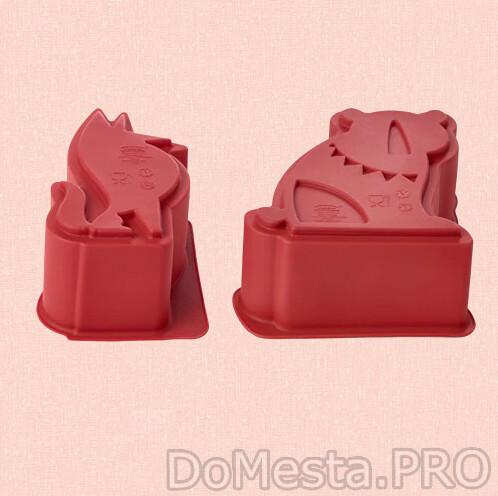 БАКГЛАД Форма для выпечки, 2 предмета зверюшка красный