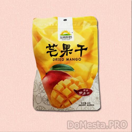 Манго сушеное Jiazhou Yuanye, 66 гр
