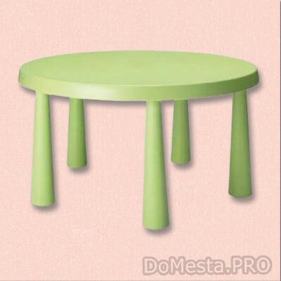 МАММУТ Стол детский, для дома/улицы зелёный, 85 см