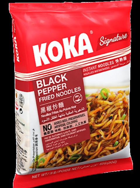 КОКА Сингапурская лапша б/п сигнече с черным перцем, 85 г