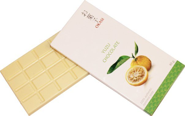 Шоколад с юдзу Okasi, 80 г