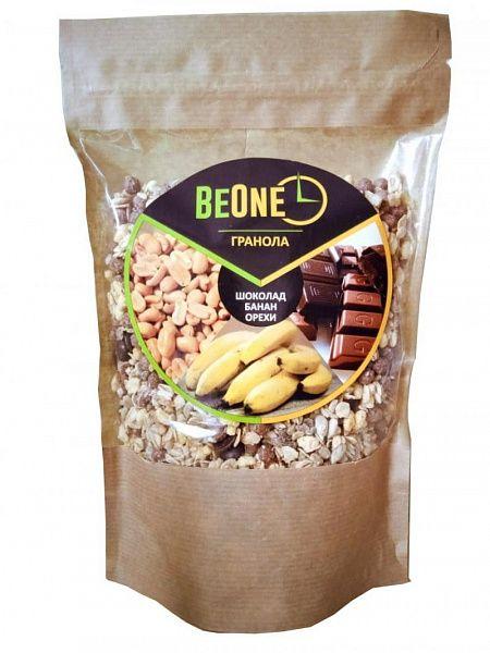 Гранола Шоколад банан орехи BeOne, 1000 г.