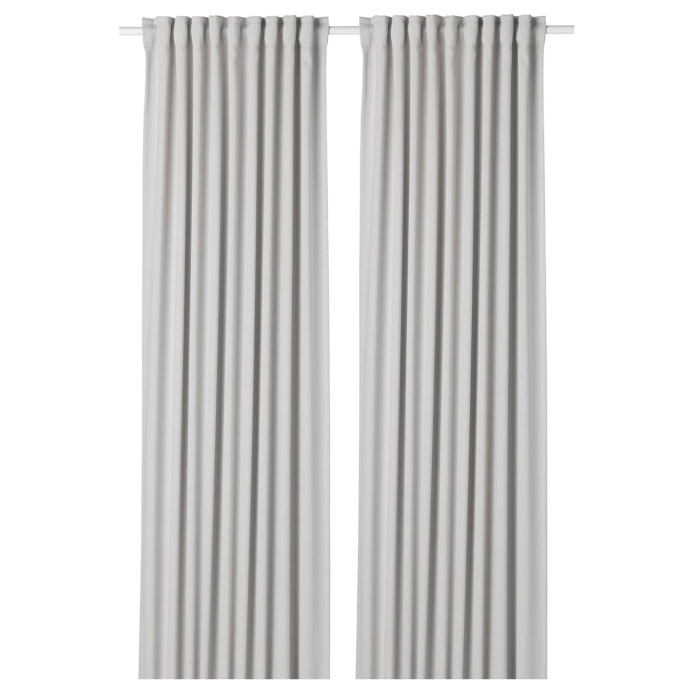 МАЙГУЛЛ Затемняющие гардины, 1 пара, светло-серый, 145x300 см