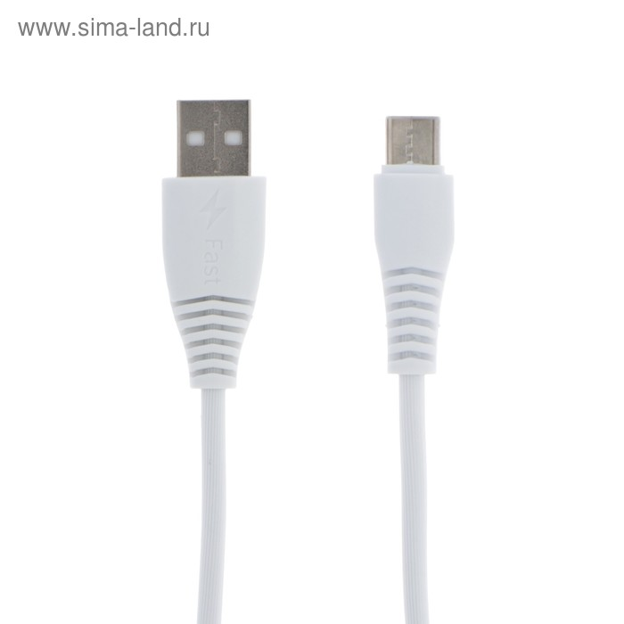 Кабель LuazON, Type-C - USB, 1 А, 1 м, белый