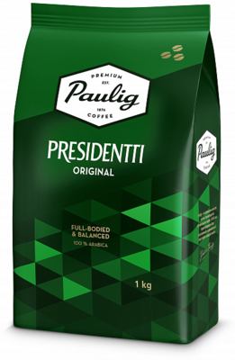 Кофе Paulig Presidentti Orig зерно 100% Арабика 1кг