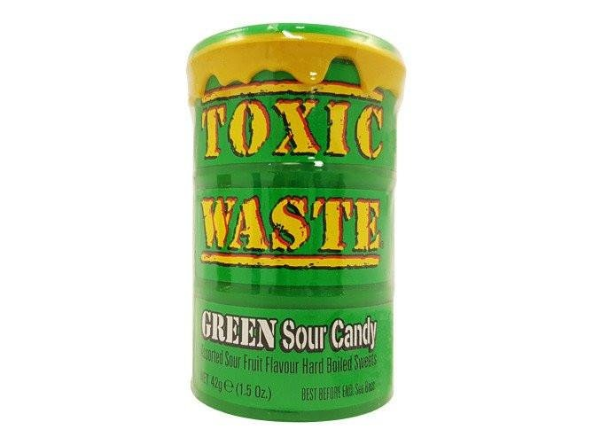 Леденцы Toxic Waste Green, 42 г