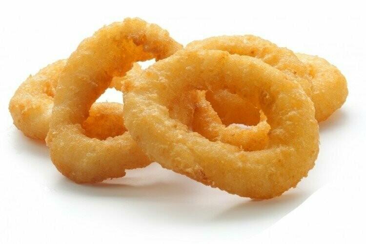 Кальмар кольца в панировке, 1кг, заморозка