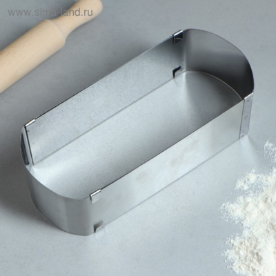 Форма для выпечки с регулировкой размера «Овал» 24 х 10-43 х 10 х 6,5 см
