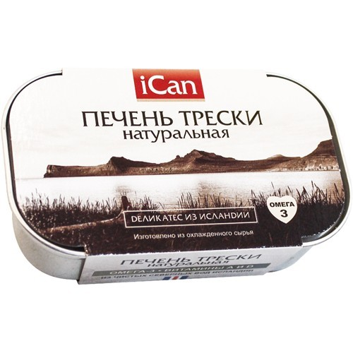 Печень трески натуральная iCan 115 гр.
