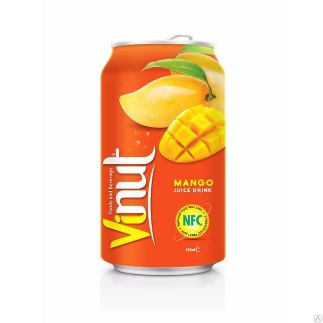Сок манго Vinut, 330 мл.