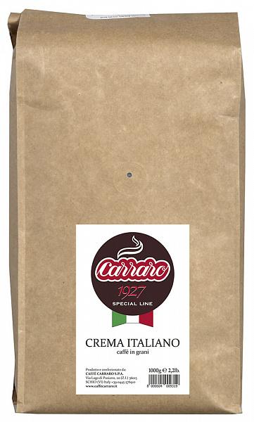 Кофе Carraro Crema Italiano зерно 1кг
