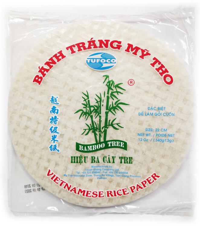 Рисовая бумага круглая Bamboo Tree 22 см, 340 г.