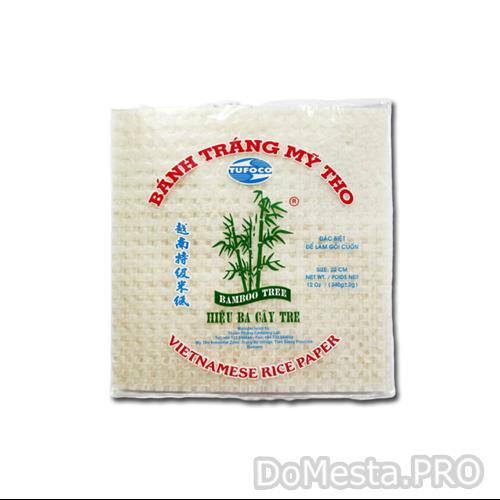 Рисовая бумага квадратная Bamboo Tree 22 см, 340 гр