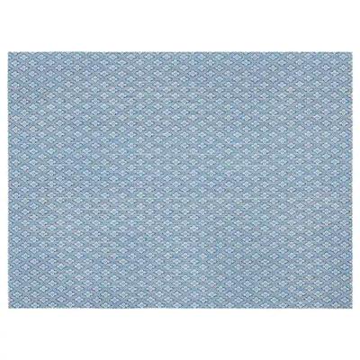 ГАЛЛЬРА Салфетка под приборы, синий, с рисунком45x33 см