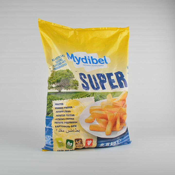 Картофель-фри premium crunch 7*7, 2.5 кг, MYDIBEL, Бельгия
