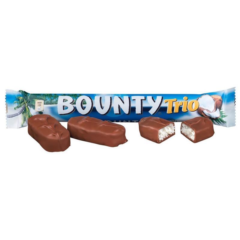 Батончик шоколадный BOUNTY Trio, 82,5 г.