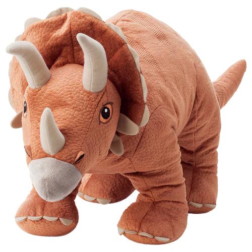 ЙЭТТЕЛИК Мягкая игрушка, динозавр, Трицератопс 69 см