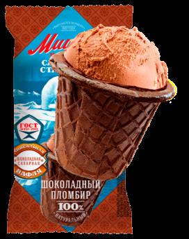 Мороженое Мишка на полюсе, шоколадный БЗМЖ, ваф.стаканчик 70 г.