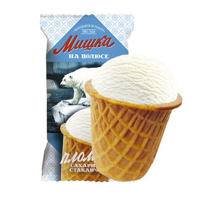 Мороженое Мишка на полюсе, пломбир БЗМЖ, ваф.стаканчик 70 г.