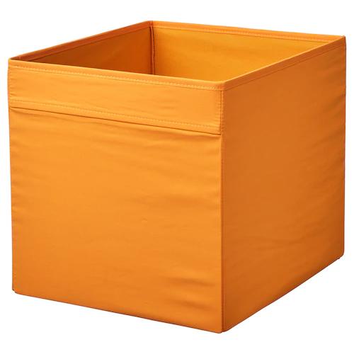 ДРЁНА Коробка, оранжевый 33x38x33 см
