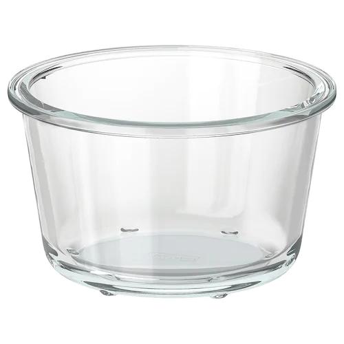 Контейнер для продуктов, круглой формы, стекло 600 мл