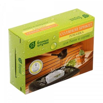 Соляной брикет с травами для бани и сауны Банные штучки 1,3 кг.