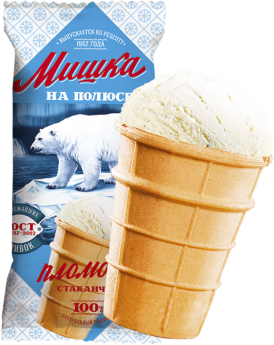 Мороженое Мишка на полюсе, крем-брюле БЗМЖ, ваф.стаканчик 70 г.