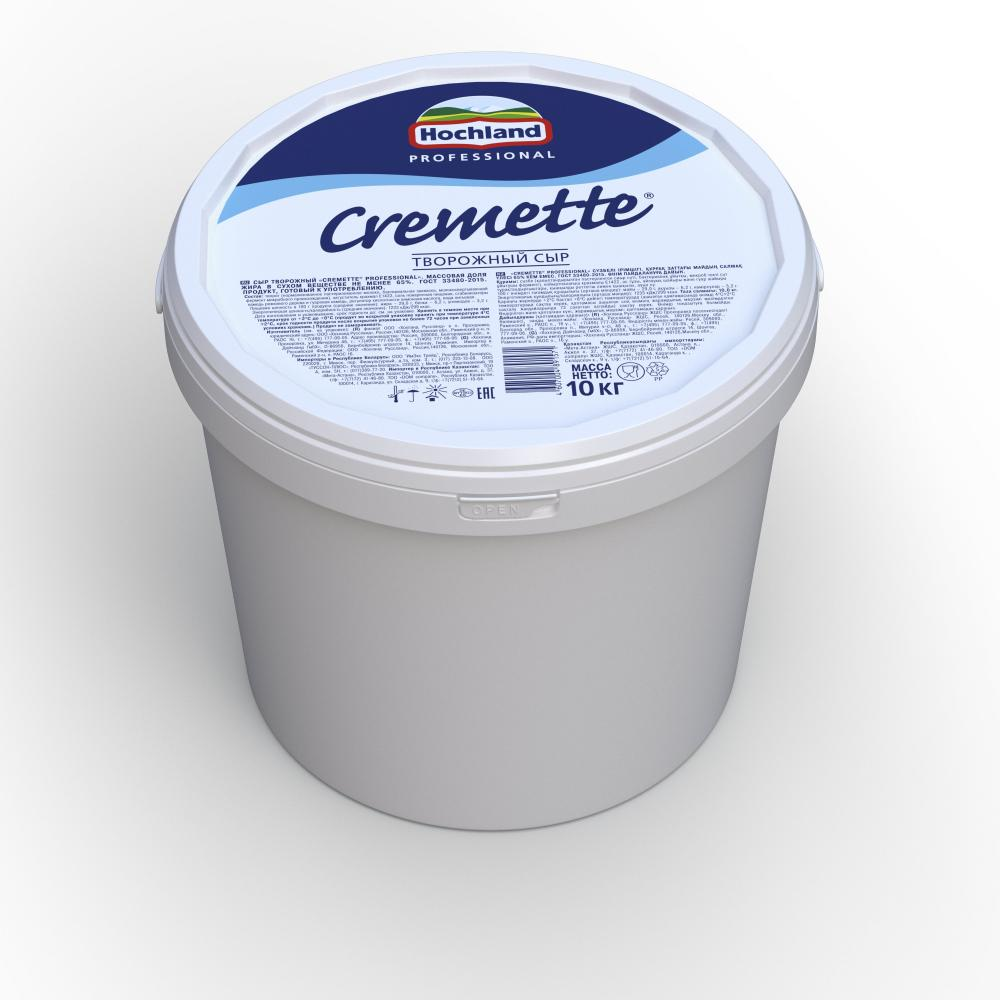 Сыр творожный Креметте Professional, 65%, 10 кг.