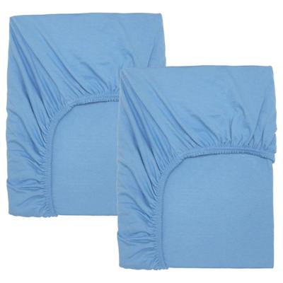 ЛЕН Простыня натяжн для кроватки, голубой 60x120 см