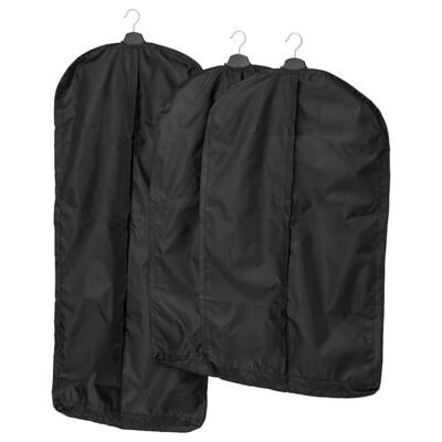 СКУББ Чехол для одежды, 3 штуки, черный