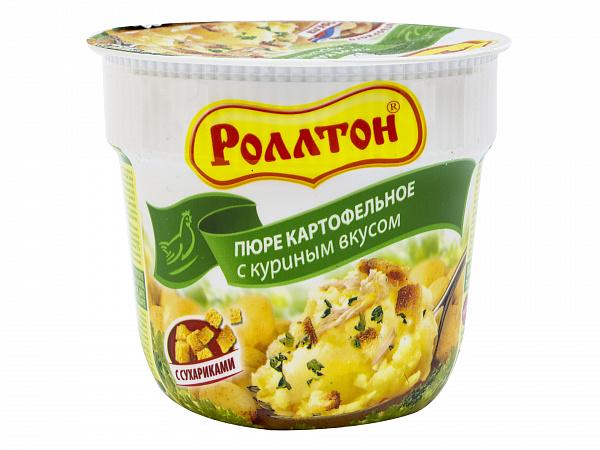 Пюре картофельное с куриным вкусом 40 г, Роллтон