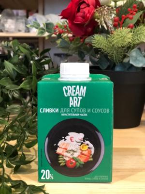 Растительные сливки Creamart, для супов и соусов, 20%, 0,5 л.