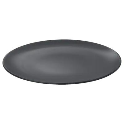 ДИНЕРА Тарелка, темно-серый 26 см