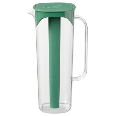 МОППА Кувшин с крышкой, зеленый, прозрачный 1.7 л