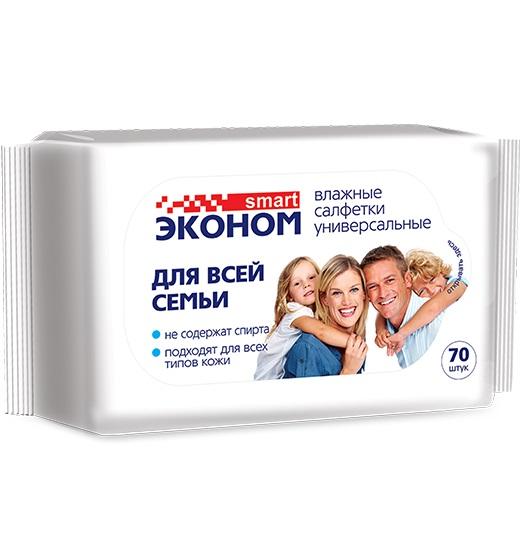 Салфетки эконом д/семьи универсалн. 70 шт.