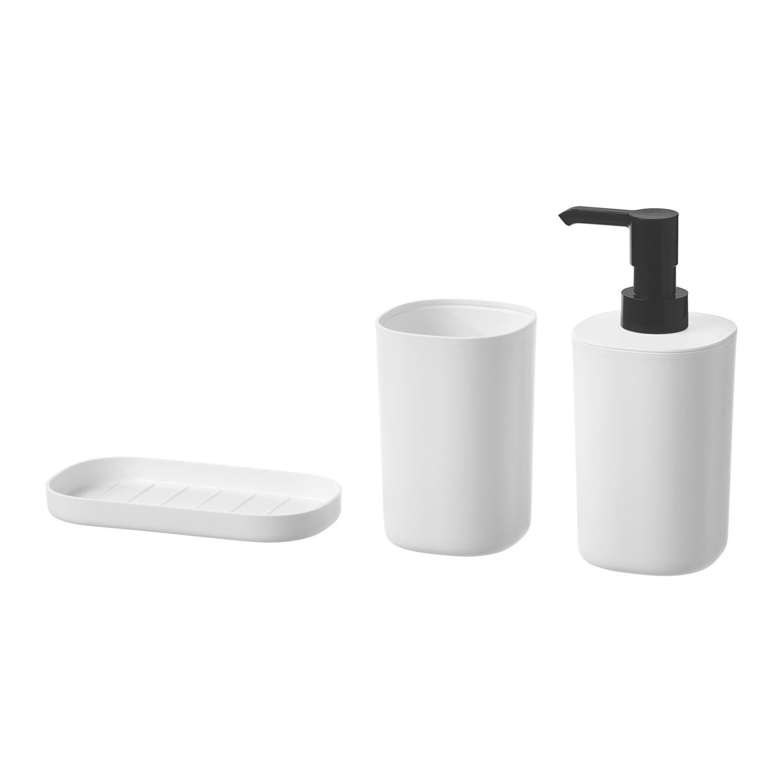 STORAVAN набор для ванной,3 предмета  белый