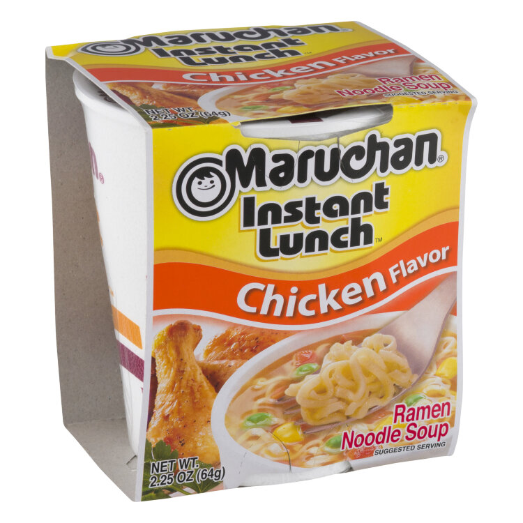 Лапша б\п Маручан Инстант Ланч со вкусом курицы, 64 г